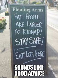 We gathered hilarious bar and cafe chalkboard signs that you've ever seen. Bar and cafe owners have been used to advertise to attract people. Funny Bar Signs, Pub Signs, Sarcastic Quotes, Funny Quotes, Funny Sarcastic, Funny Humor, Hilarious Memes, Sidewalk Signs, Restaurant Signs