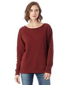 36205b053fb16 Alternative 5068BT Ladies' Reversible Scrimmage Vintage French Terry  Pullover