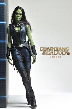 Gamora. This is NOT Zoe Saldana, this is a toy.