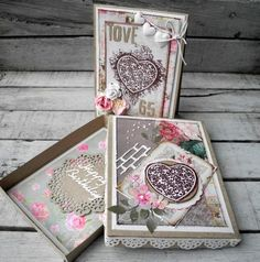 Happy Birthday Card -  Stempelglede :: Design Team Blog. 2015 © Pia Baunsgaard Happy Birthday Cards, Flourish, Wedding Cards, Decorative Boxes, Gift Wrapping, Scrapbook, Grunge, Blog, Stamps
