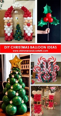 7 DIY Christmas Balloon Decoration Ideas Nothing says merriment and celebration like balloons. Christmas balloons are an easy way to glam up your party or home for the season. Source by acraftedpassion Christmas Party Ideas For Teens, Christmas Birthday Party, Adult Christmas Party, Christmas Party Themes, Christmas Balls Decorations, Office Christmas, Christmas Holidays, Christmas Crafts, Company Christmas Party Ideas