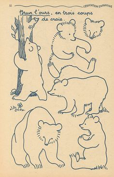 brown bear, three strokes of chalk – French kids' education book