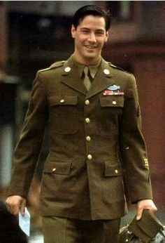 Keanu Reeves in a Walk In The Clouds Keanu Reeves House, Keanu Charles Reeves, Keanu Reeves Quotes, Period Movies, Handsome Actors, Men In Uniform, Favorite Person, Actors & Actresses, Eye Candy