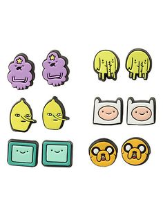 MAR :D look what I found! Adventure Time Character Earrings 6 Pair   Hot Topic