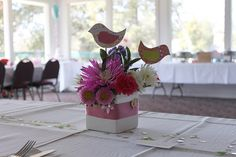 Paper Birds Centerpiece by sentamc, via Flickr