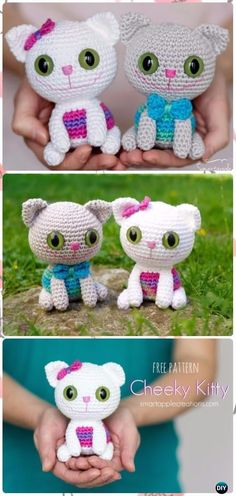 Crochet Amigurumi Cheeky Kitty Free Pattern - Crochet Amigurumi Cat Free Patterns