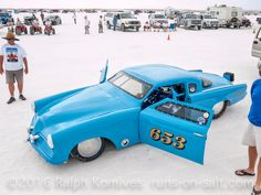 This beautiful Studebaker #653 owned by Gord Driedger, set a new XF/FCC record of 162.698. photo by Ralph Komives, ©2016 Ralph Komives, Southern California Timing Association, Bonneville, Speed Week 2016, Wendover, Utah