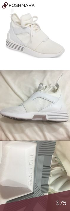 Kendall + Kylie White Sneakers hidden wedge 8m Only bottom of the box  Box has a hole  Size 8m Kendall & Kylie Shoes Athletic Shoes