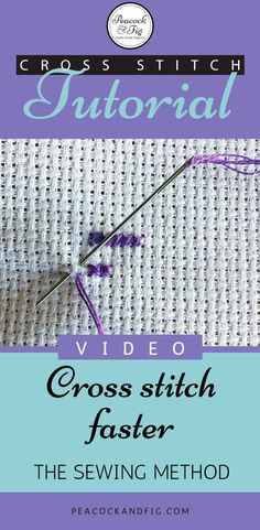 stitch twice as fast: the sewing method Cross stitch faster with this great technique! This video tutorial will demonstrate the sewing method, which can help you cross stitch twice as fast!Cross stitch faster with this great technique! This video tutorial Counted Cross Stitch Patterns, Cross Stitch Charts, Cross Stitch Designs, Cross Stitch Embroidery, Embroidery Patterns, Hand Embroidery, Cross Stitch Beginner, Cross Stitch How To, Cross Stitch Thread