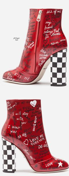 & Gabbana Fall 2017 New Ideas Schuhe Dolce Fall fallDolce Gabbana Ideas Dolce & Gabbana, Heeled Boots, Bootie Boots, Shoe Boots, Shoes Heels, Fancy Shoes, Me Too Shoes, Sneaker Heels, Red Boots
