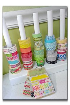 DIY Embellishment Storage-some of the most awesome ideas ever! Click through to check out the homemade clip-it-up! Love this fabulous decorative piece for a scraproom; so much prettier than the original.