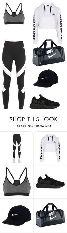 """""""Untitled #580"""" by madelin-ruby ❤ liked on Polyvore featuring NIKE and Topshop"""