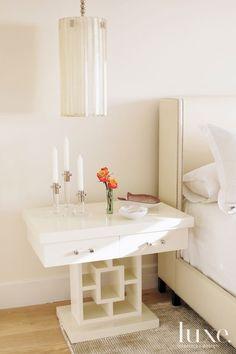 A La Jolla, CA condominium features an elegant #bedroom. See more at www.luxesource.com