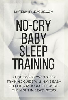 Sleep training baby to sleep through the night is easier than you think! This no-cry baby sleep training method works wonders for tired parents- and babies!