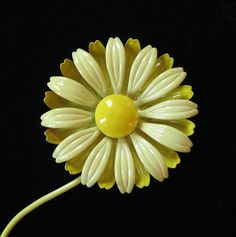 Yellow Double Layer Flower Power Brooch. $22.00, via Etsy.