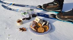 Nothing beats a snack break when you're out on the trails. On our Nordic Ski tour, we have a spread of Cabot Creamery Co-operative Cheese and crackers, Vermont Farmhouse Jerky, Sherry's Trail Bars and a hot cup of cider from Cold Hollow Cider Mill! Outdoor Outfitters, Nordic Skiing, Ski Touring, Vermont, Crackers, Beats, Trail, Farmhouse, Tours