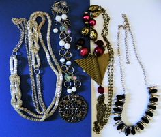 VINTAGE RETRO JEWELRY LOT VICTORIAN TASSEL EXCELLENT USED CONDITION 4 #MIXED