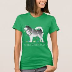 Alaskan Malamute Christmas t-shirt Breed_Collection: Products on Zazzle