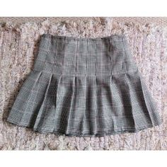 Plaid skirt made using fabric from our shop by one of our Saturday girls!