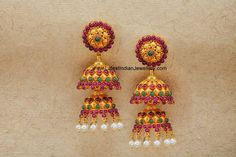 Double Step Latest Gold Jhumka
