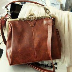 Hengsong-Style Européen-Mode-Rétro-Party/Travail/Shopping/Téléphone Cuir Vintage Sac Collection/Bandoulière Sac/Besace Sac/Sac Portés épaule-Femme
