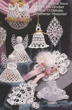 Victorian Christmas Ornaments Crochet Patterns...my mom makes decorations like this, but with lace.