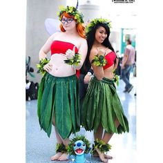 Love this shot I found of my Mertle and Lilo cosplay I did with @lily_liqueur ! Thank you so much @wdlee00  by cosplaybabu