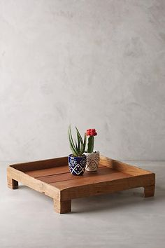 Anthropologie Reclaimed Wood Tray D likes this one