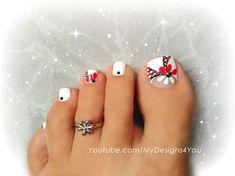 Floral Toenail Art by from Nail Art Gallery Pretty Toe Nails, Cute Toe Nails, Pedicure Nail Art, Toe Nail Art, Purple Pedicure, Toenail Art Designs, Fall Toe Nail Designs, Flower Pedicure Designs, Popular Nail Art