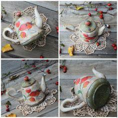 """Купить """"Чай с шиповником"""" чайник - рыжий, бежевый, зеленый, оранжевый, красный…"""