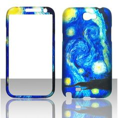 Amazon.com: 2D Blue Design Samsung Galaxy Note 2, II N7100, T889 Case Cover Hard Phone Case Snap-on Cover Rubberized Touch Faceplates: Cell Phones & Accessories