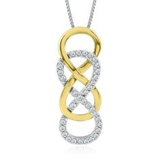 INFINITY X INFINITY™ 1/4 ct. tw. Diamond Pendant in Sterling Silver   #pingagement and #helzbergdiamonds