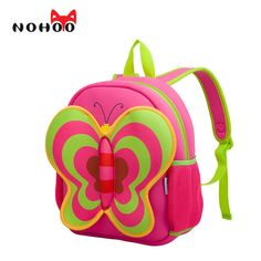 3a502bc8ef3e NOHOO Butterfly Waterproof Children School Bags Cartoon Animals School  Backpacks For Teenage Girls Large Capacity Baby