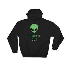 Alien Finger Sweatshirt Skater Swear Thrash Retro Jumper Sketch UFO High Top