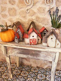 Birdhouse. Casas de pájaros. Http://perfectodia.blogspot.com