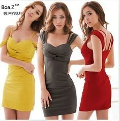 New Womens Sexy Tight Backless Off Shoulder Bridesmaid Dress 3 Colors E042 | eBay