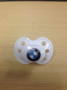 The BMW logo nuk or pacifier. #bmwbaby