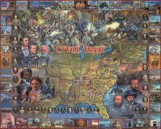 Amazon.com: White Mountain Puzzles Civil War: Toys & Games