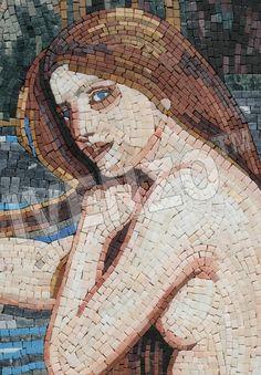 Mosaik FK055 Details Waterhouse: Meerjungfrau 1