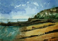 Original Painting of the Western Undercliff at Ramsgate, Kent. A Lovely Gift Idea! by JulianLovegroveArt on Etsy