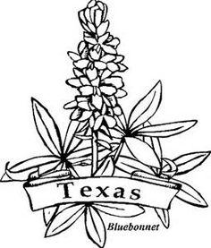 Texas Bluebonnet Coloring Page