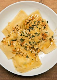 Four Cheese Ravioli With Rosemary Butter Sauce