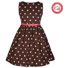 Mini Audrey Chocolate Polka 7-8 (€15) ❤ liked on Polyvore featuring brown