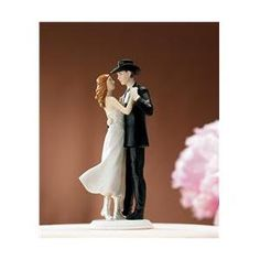 Wedding Cake Topper - A Sweet Western Embrace Wedding Cake Topper. Country wedding cake topper features the bride and groom dancing while the groom wears a cowboy hat. Cowboy Wedding Cakes, Funny Wedding Cake Toppers, Country Wedding Cakes, Themed Wedding Cakes, Wedding Topper, Wedding Favors, Wedding Ideas, Wedding Themes, Bride And Groom Cake Toppers