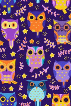 Owl pattern owl papers pinterest owl patterns owl and wallpaper custom colorful owls pattern printed design pillowcase one side voltagebd Gallery