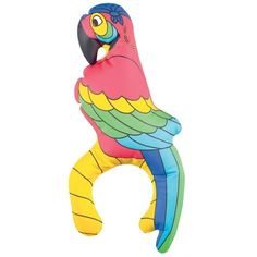 Inflatable Pirates Parrot On Shoulder - Fancy Dress would these stay on ?