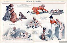 René Préjelan 1913 Beautiful Girls and Dogs