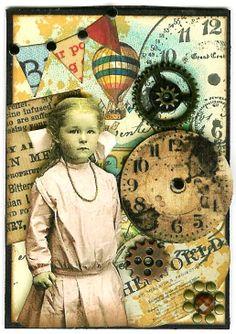 Nostalgic Collage': ATC - Around the World in 80 Days