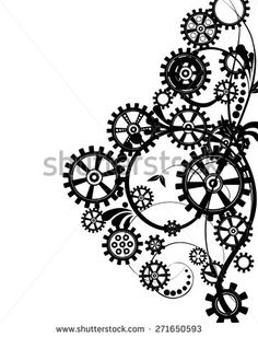 steampunk gear coloring page - Google Search