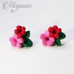 Stud Earrings, Polymer Clay Creations, Ear Jewelry, Shapes, Fimo, Studs, Stud Earring